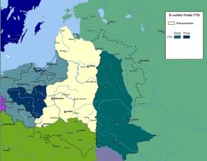 II rozbiór Polski mapa