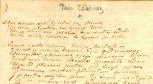 Adam Mickiewicz - Pan Tadeusz - rękopis
