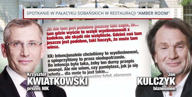 Afera podsłuchowa - Jan Kulczyk, Krzysztof Kwiatkowski