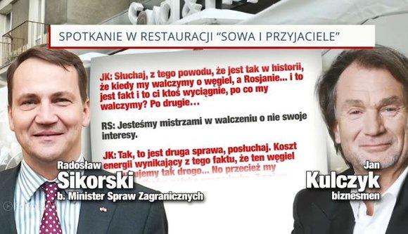 Afera podsłuchowa Jan Kulczyk, Radosław Sikorski