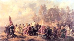Artur Grottger - Modlitwa Konfederatów barskich