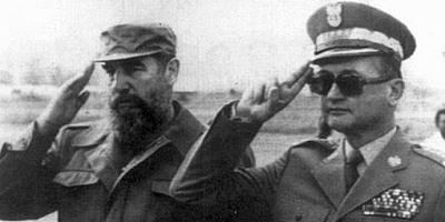 Fidel Castro i Wojciech Jaruzelski