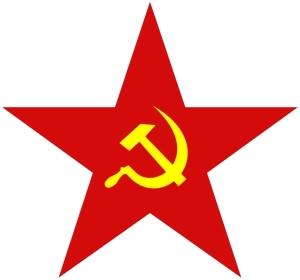 Symbole komunistyczne: czerwona gwiazda oraz sierp i młot
