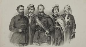 Dowódcy Powstania styczniowego: Marcin Borelowski, Dionizy Czachowski, Marian Langiewicz, Henryka Pustowójtówna, Francois Rochebrune.