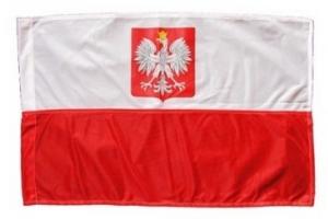 Flaga Polski z herbem