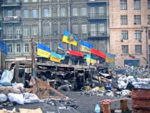 Flagi UPA na Euromajdanie