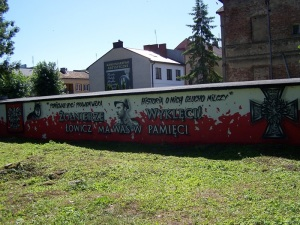 Graffiti Żołnierze Wyklęci - Łowicz