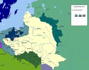 I rozbiór Polski mapa