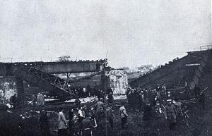 III Powstanie śląskie wysadzony most na Odrze