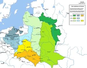 III rozbiór Polski mapa