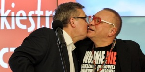 Jerzy Owsiak i Bronisław Komorowski