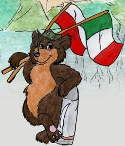 Komiks niedźwiedź Wojtek