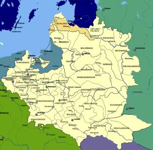 Mapa Polski 1701