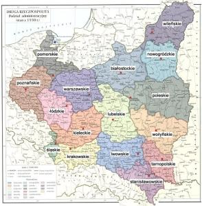 Mapa województw II RP