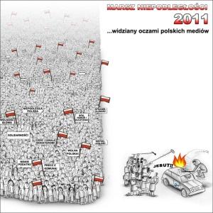 Marsz Niepodległości 2011 w mediach