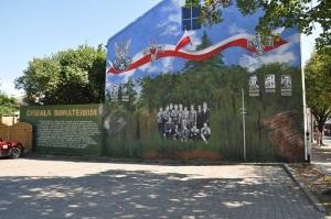 Mural - Żołnierze Wyklęci - Bełchatów