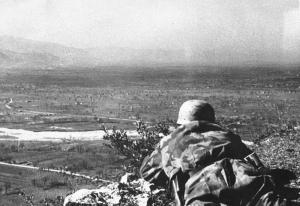Niemieckie pozycje na Monte Cassino