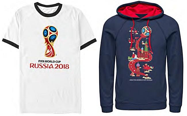 Odzież ze sklepu Mistrzostw Świata 2018 w USA