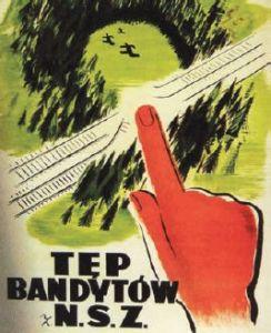 Plakat - Tęp bandytów z NSZ