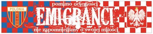 Flaga Polonia Bytom Emigranci