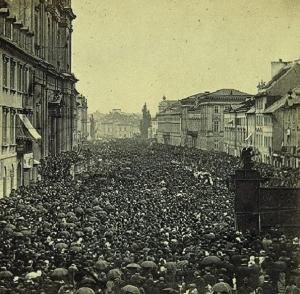 Procesja Bożego Ciała Warszawa 1831 rok