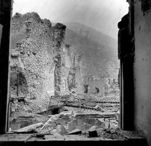 Ruiny miasteczka Cassino