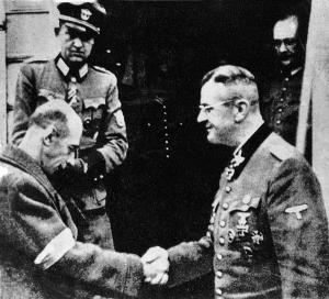 Tadeusz Bór-Komorowski kapituluje przed Erichem von dem Bachem