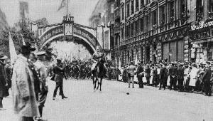 Ułani w Katowicach 1922 rok