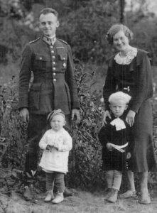 Witold Pilecki z rodziną