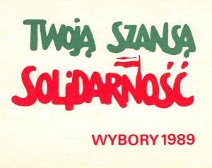 Wybory czerwcowe plakat Solidarności