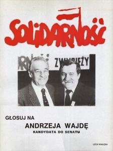 Wybory czerwcowe ulotka Andrzeja Wajdy