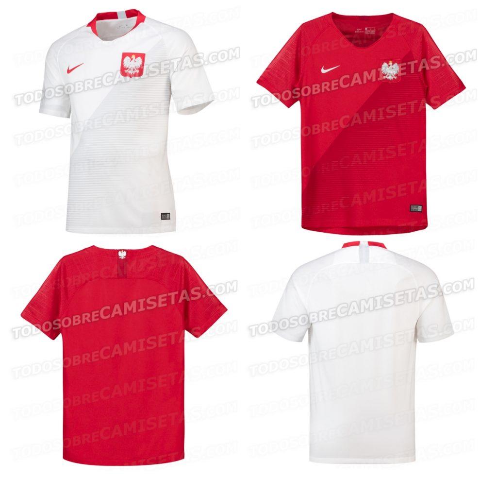 Zdjęcia koszulek reprezentacji Polski 2018